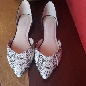 Barneys New York D'orsay Flats (worn once)